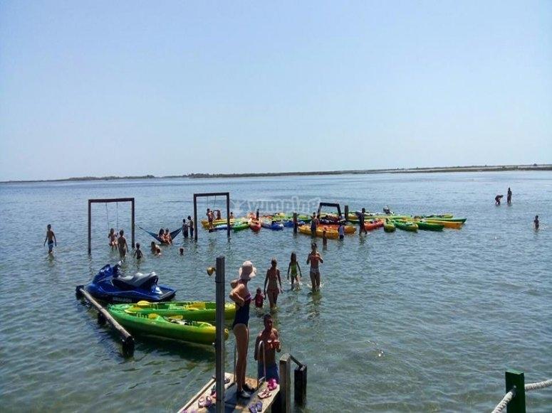 Kayak rental in Ebro Delta