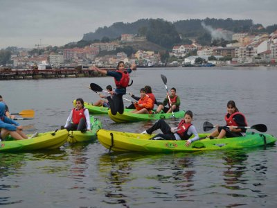 皮划艇导游带领游览Moaña