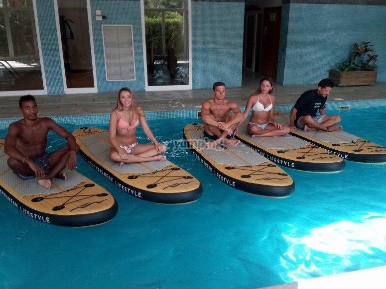 Aquapaddle en piscina