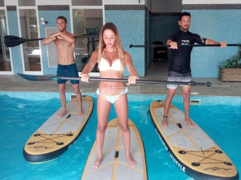 Aquapaddle in Alicante  exercise + music 1hour