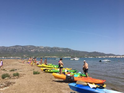 Alquiler de kayak cuadruple Delta del Ebro 3h