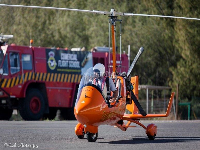 Autogiro en Tarajalillo