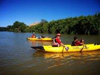 On the kayak