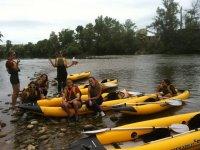 Trying kayaking