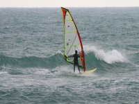 Sailing with the windsurf board