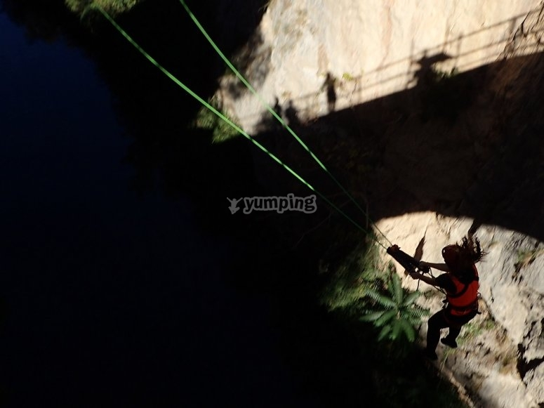 Swinging after the jump