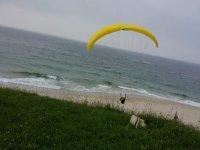 atterraggio sulla spiaggia