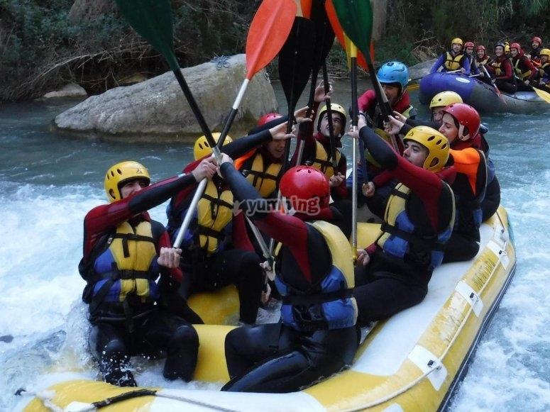 Descenso en balsa de rafting