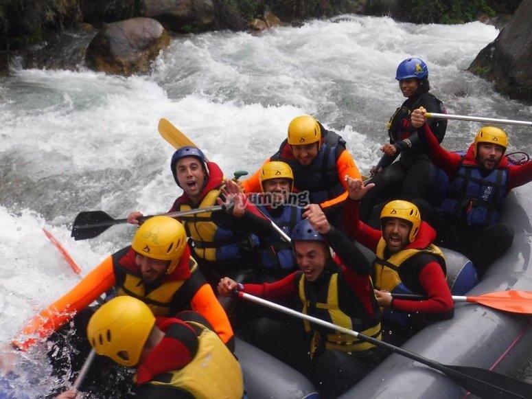 Emocion en el rafting
