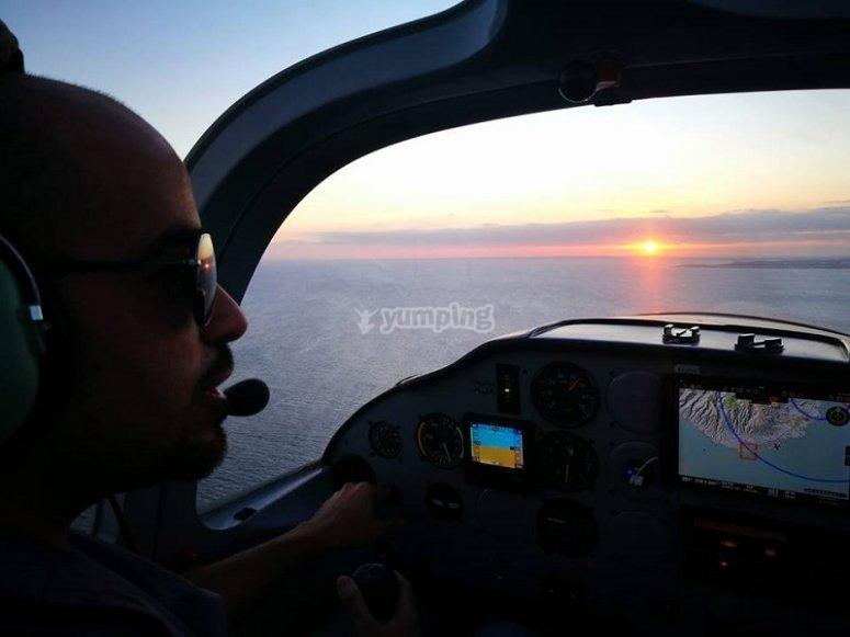 Guardare il tramonto