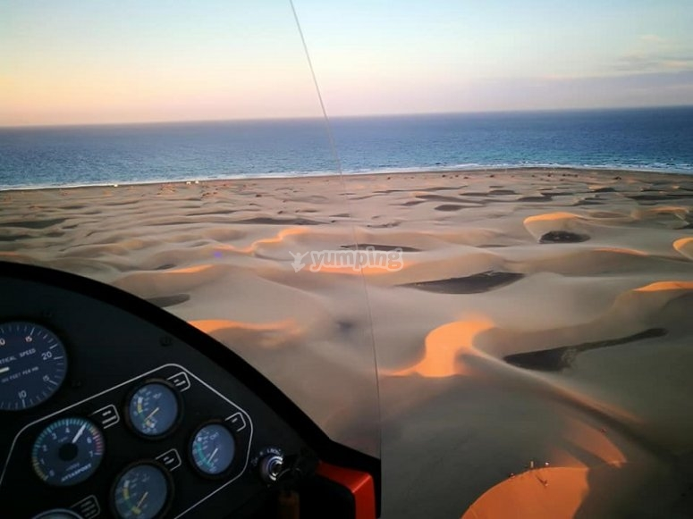 Sobrevolando las dunas