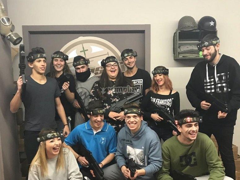 Friends in the laser match