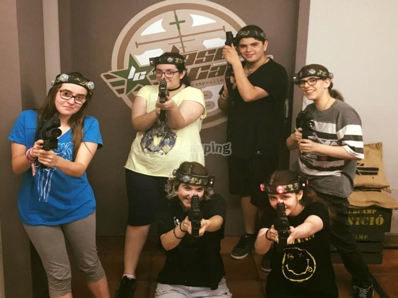 Group of the laser tag participants