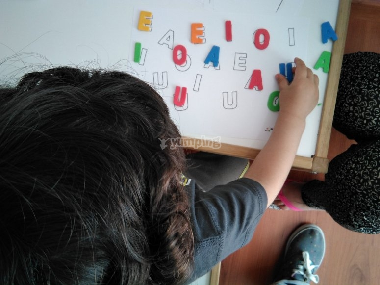 Aprendiendo las letras