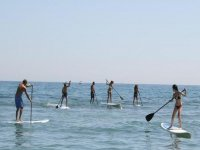 paddle surfing day with friends