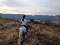 Vistas del paisaje a caballo