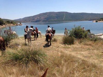 在马德里Sierra Norte骑马和食物