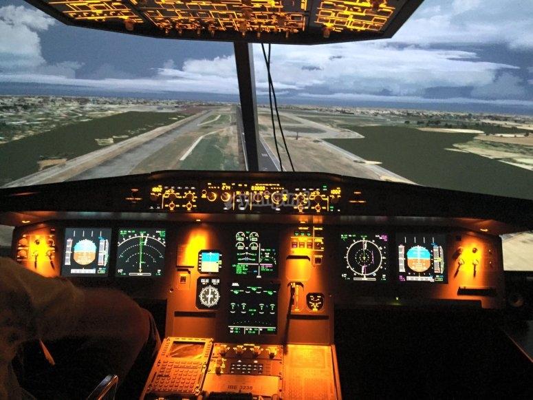 Flight simulator A320 in Cuatro Vientos 1h