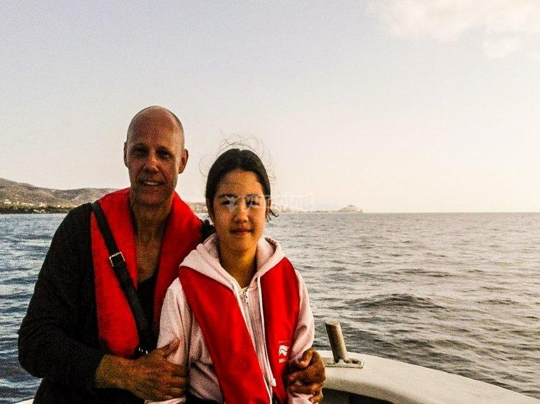 Navigando in barca da pesca
