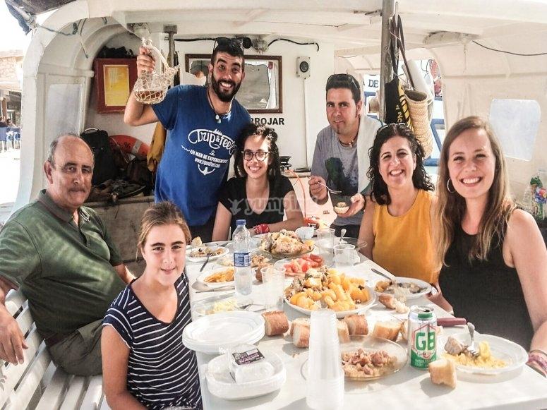 Degustación marinera en Peñíscola