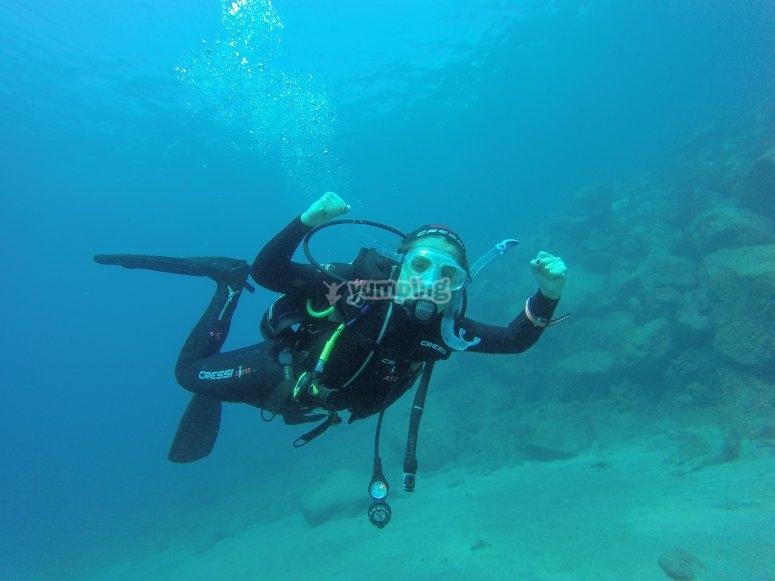 Enjoying scuba dive