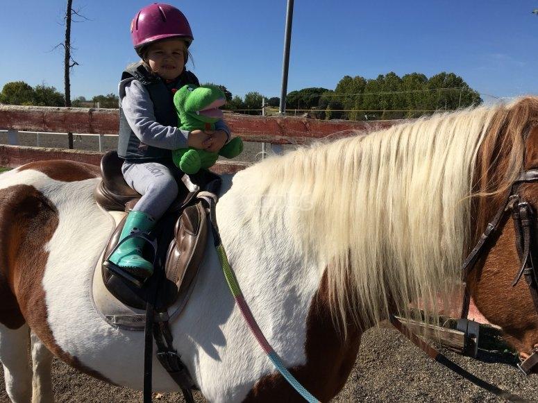 Pequena sobre el caballo