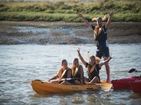 With friends in kayak