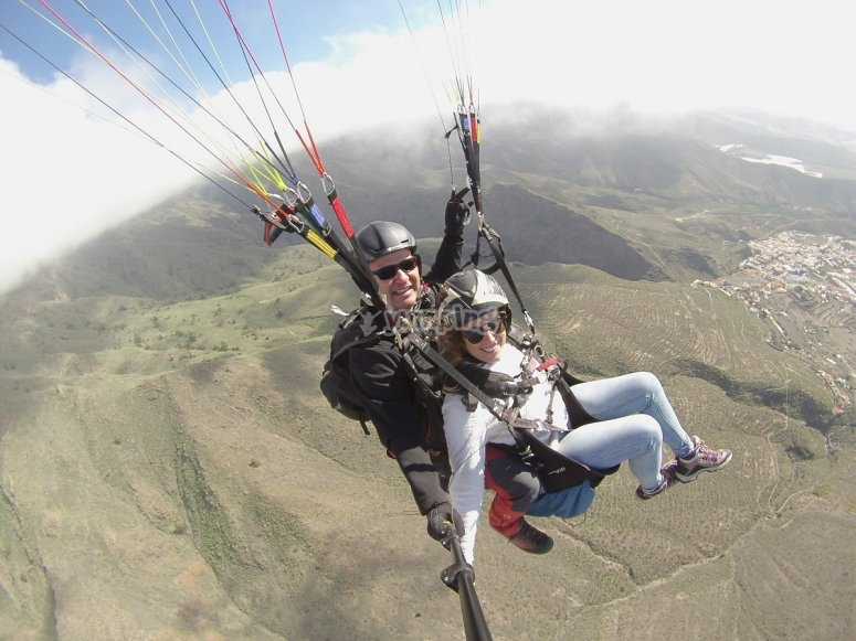Paragliding with an instructor