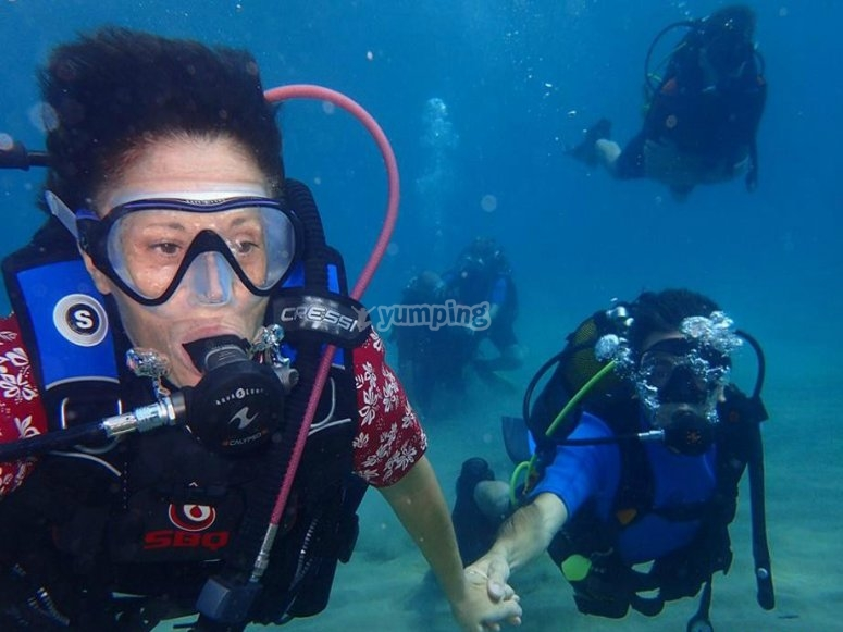 潜水的体验