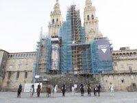En la catedral de Santiago a caballo