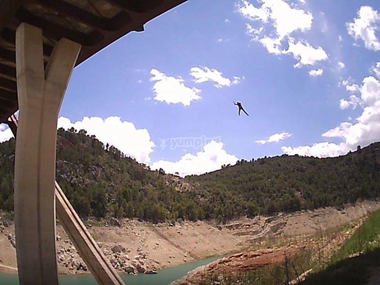 Pendulum after bungee jumping