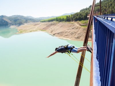 Two bungee jumps in Yeste photos and video