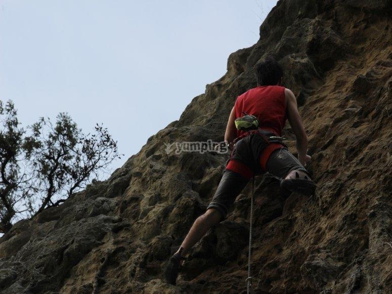 Giornata di arrampicata in Navarra