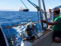 在地中海船