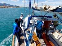 在瓦伦西亚帆船帆船机动