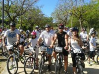 At the start of the MTB race