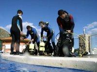 Preparación del equipo de buceo