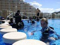 Inizio di immersioni in acque confinate