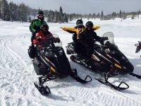 Snowshoeing and snowmobile tour Vall de Bohí