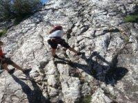 Escalando las rocas