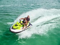 Couple on a jet ski