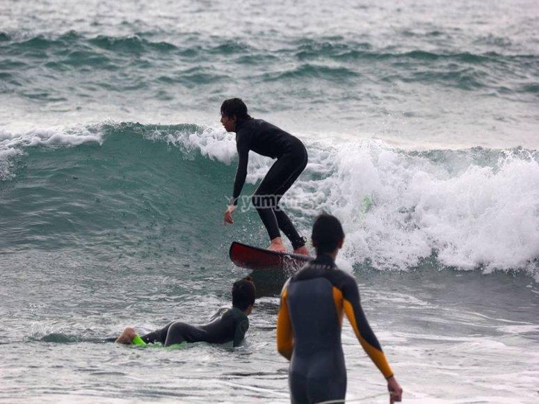 Entrenamientos de surf