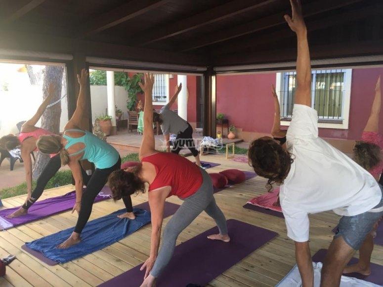 Sesión yoga