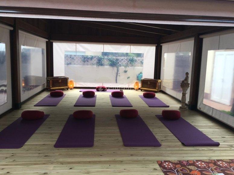 Pergola para yoga
