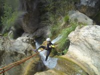 Recorriendo el barranco de Yeste