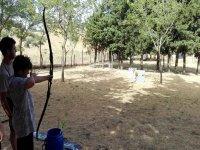 Tirando la flecha