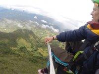 Disfrutando del vuelo sobre la comarca guadalajarena