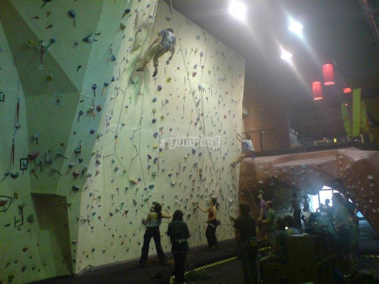 Climbing wall in Madrid
