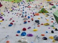 Climbing wall in a school