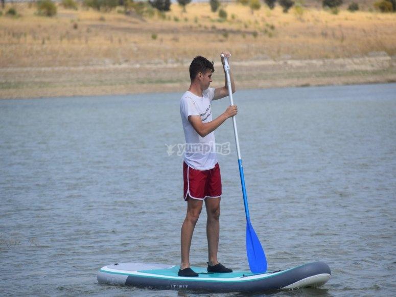 Practica paddle surf en Llerena